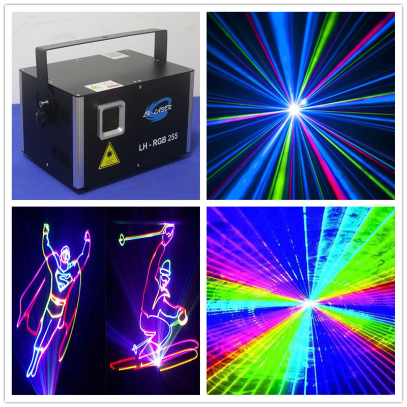 Free Shipping 3W ILDA+DMX512 Mini Laser Stage Lighting DJ Party Stage Light Disco Dance Floor Lights