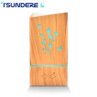TSUNDERE L Air Humidifier 300ML Pattern Humidifier Hollow Wood Fragrance Machine For The Bedroom Baby Room
