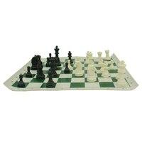 Mini Jeu d'échecs Avec Échiquier 35 cm x 35 cm Voyage Jeux échecs International Résine Chessman Roi 6.4 cm Roll Up D'échecs Pour Les Enfants