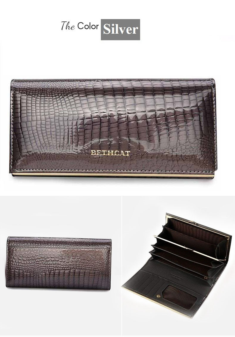 Women Wallets Brand Design High Quality Leather Wallet Female Hasp Fashion Dollar Price Alligator Long Women Wallets And Purses14 - 1