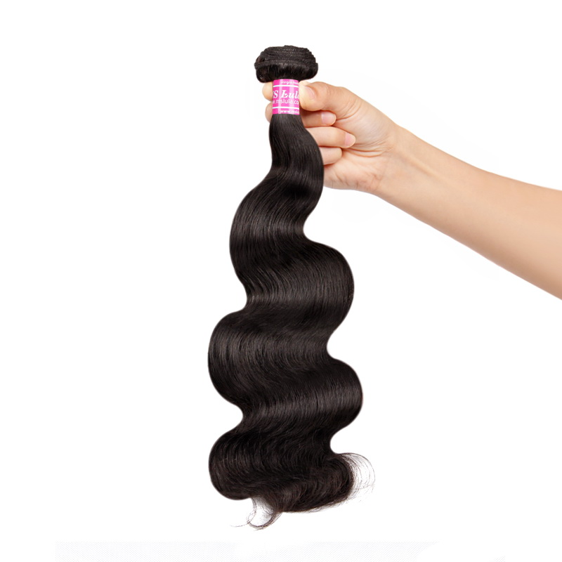 MS Lula Peruvian Hair Weave Body Wave 3 Bundles With 4x4 Lace Closure 100% Human Hair Bundles Natural Color Remy Hair Extensions-in 3/4 Bundles with Closure from Hair Extensions & Wigs    3