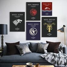 Game Of Thrones A3 Film TV Poster Kunst Leinwand drucke Wohnzimmer Deer Bilder Malerei Moderne Wohnkultur No Frames