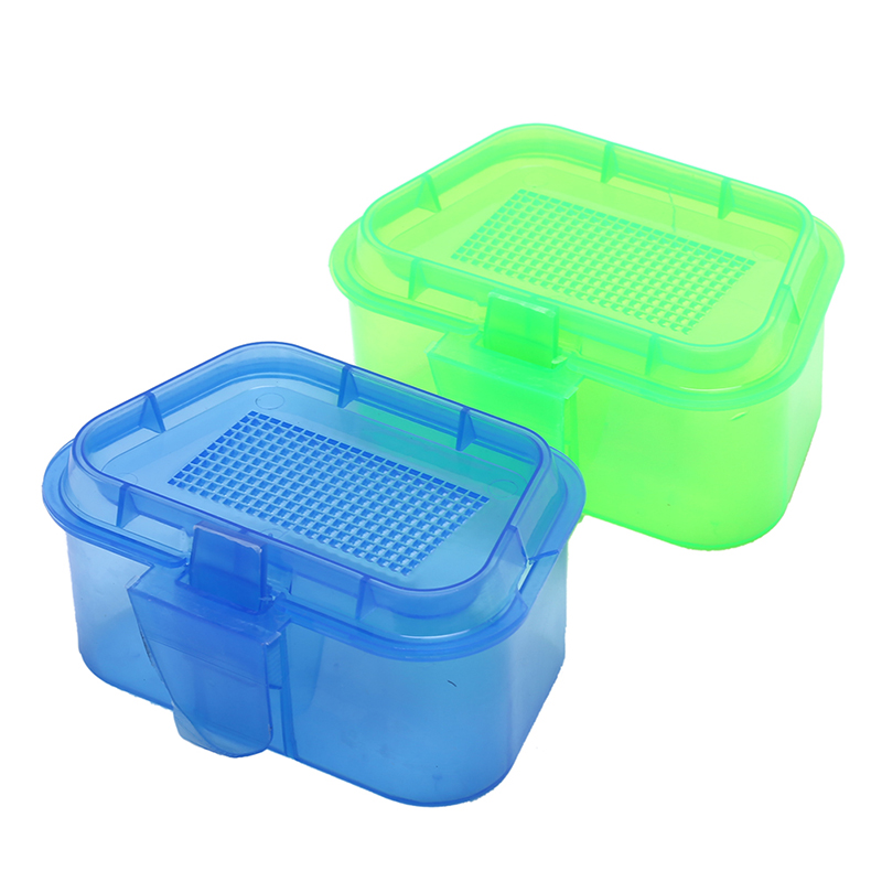1PC Breathable Plastic Fishing Bait Storage Box Live Worms Earthworm Lures Container