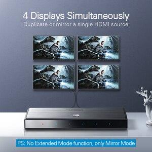 Image 3 - Ugreen HDMI 2.0 Splitter UHD 4K/60Hz HDR Adapter HDMI 1x 4/1x2 HDMI 1 wejście 4 konwerter wyjściowy dla PS4/3 HDTV rozdzielacz HDMI