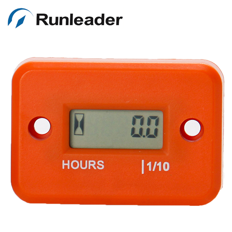 Free shipping LCD Digital Hour Meter for Gasoline Engine outboard Motorcycle mower ATV motorbike jet ski chainsaw pit bike boat