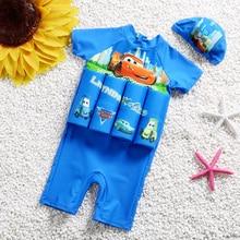 Детский съемный плавучий плавающий купальник на молнии на спине, тренировочный купальный костюм, безопасный обучающий, защитный купальный костюм-поплавок