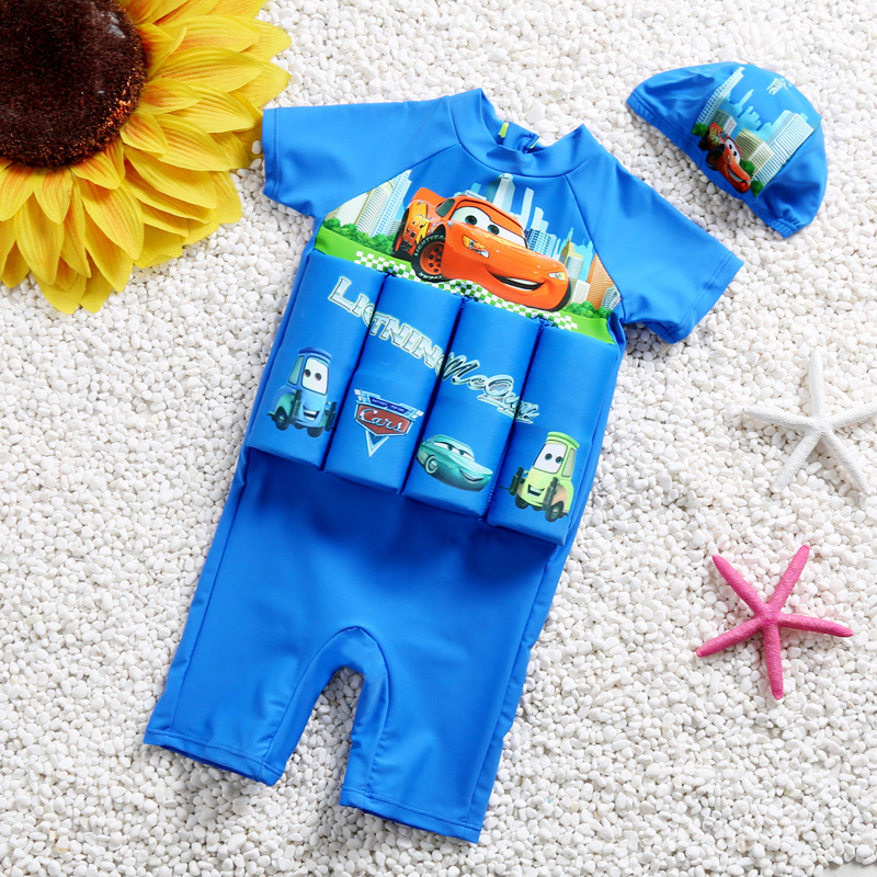 Children Detachable Buoyancy Floating Swimwear Zipper Back Training Bathing Suit Safe Learning Lesson Protective Float Swimsuit