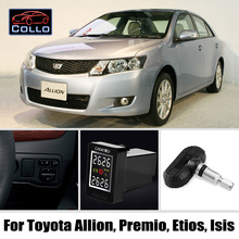 TPMS For TOYOTA Auris / Blade / Allex / Matrix / Wireless Tire Pressure Monitoring System Of Internal Sensors Embedded Install