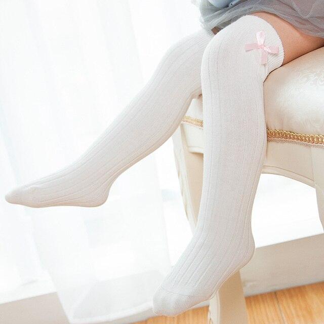 sélection premium 200ba 988cb € 1.7 30% de réduction|Enfants bébé fille longues chaussettes au dessus du  genou haute chaussette arc coton désossé enfants princesse chaussettes ...