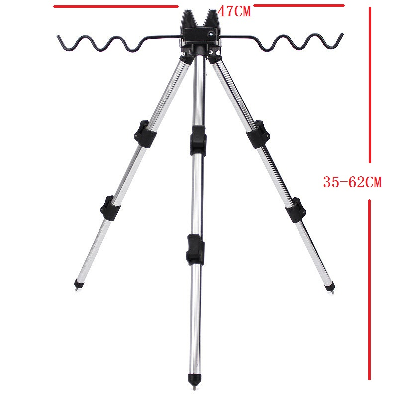 Image 2 - Aluminum Alloy Telescopic 5 / 7 Groove Fishing Rods Holder Collapsible Tripod Stand Sea Fishing Pole Bracket-in Fishing Tools from Sports & Entertainment