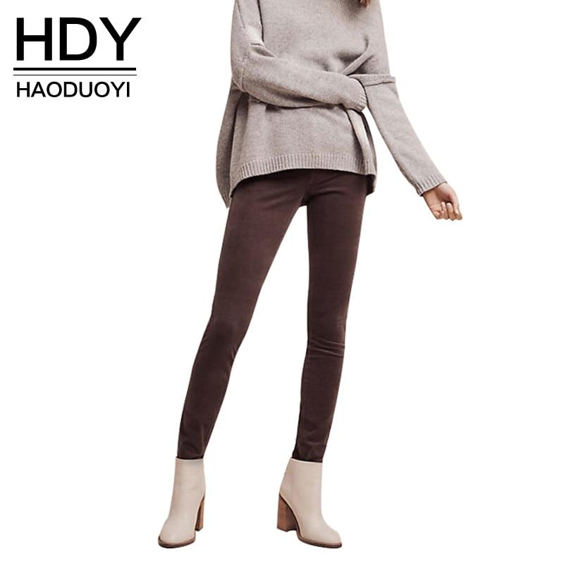 ⓪Hdy haoduoyi moda Cremalleras lápiz Pantalones mujer alta cintura ...