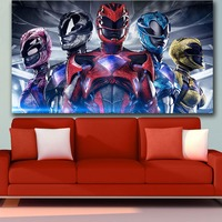 HD Anime Wall Art Canvas Movie Power Rangers Poster Print Hot Anime Wall Art Painting Art