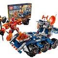 Lepin 14022 nexo caballeros de axl axl torre portador de kits de juguetes de bloques de construcción de combinación de marvel mini bloques compatible nexus