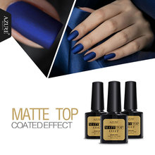 Azure Beauty 8ml Matt Matte Top Coat Nail Gel Polish Nail Art Tips Finish Top Coat Gel Long Lasting Gel Lacquer Matt Top Gel