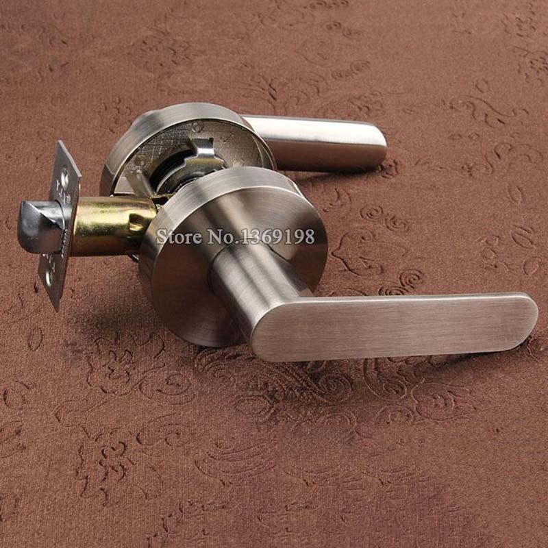 High Quality Stainless Steel Privacy Door Lock Entry Passage Door Lever Lock Fire Door Aisle Lock Background Door Handle Lock in Locks from Home Improvement