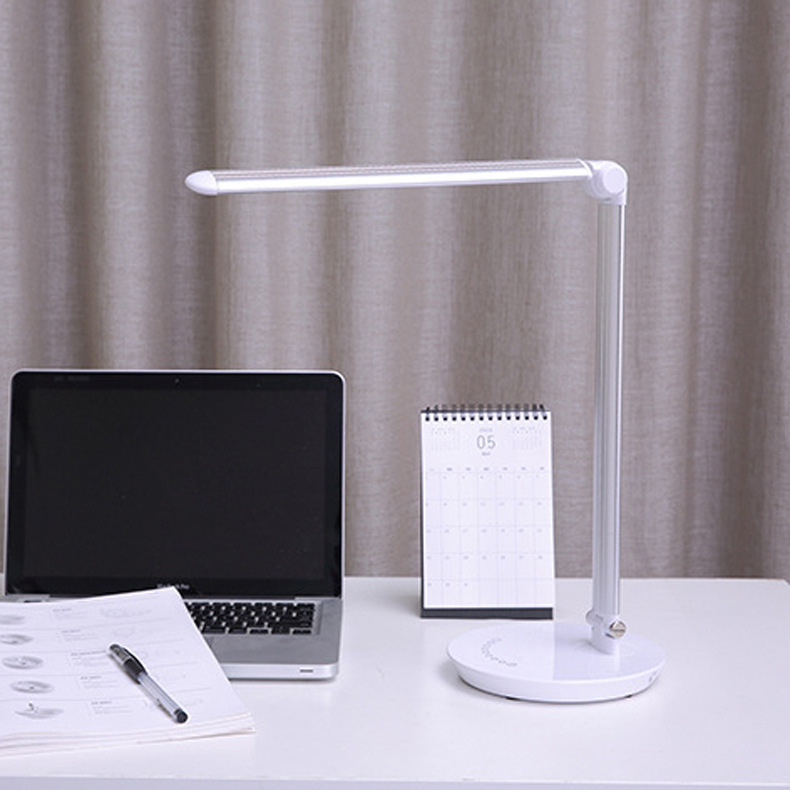 LED Touch On/off Switch 3 Modes Clip Desk Lamp 7000K Eye Protection Reading Dimmer Rechargeable USB Led Table Lamps flexible usb led rechargeable night lights clip on bed table desk study reading learning lamp eye protection clip lamp lighting