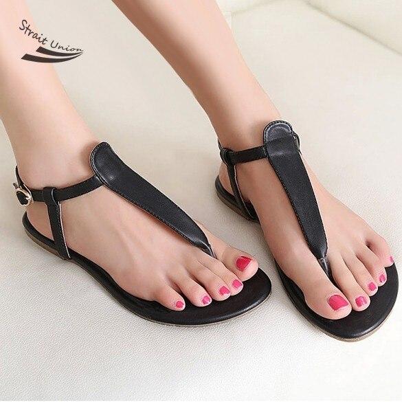 1c2889cb4a 2015 mujeres de moda sandalias diseñador hebilla sandalias planas causales  flip flops zapatos de verano para