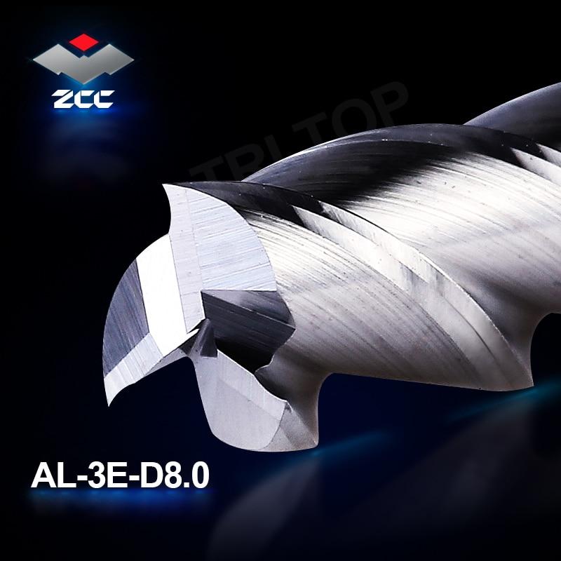 2 sztuk / partia ZCC.CT frezowanie cnc AL-3E-D8.0 z węglika - Obrabiarki i akcesoria - Zdjęcie 2