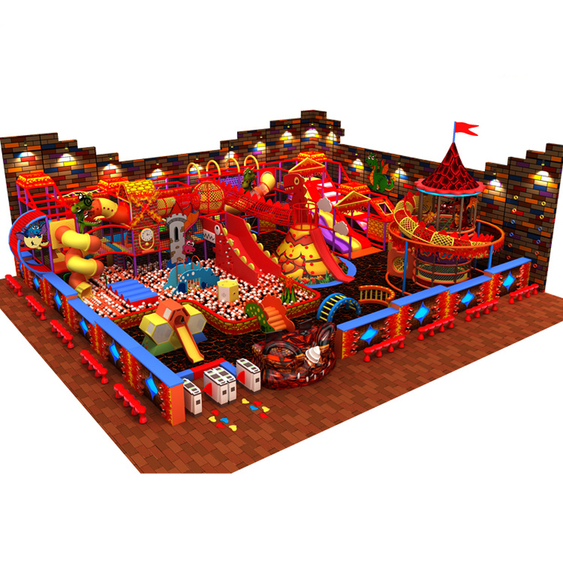 Customized Amusement Indoor Playground Fun City Play Center With Volcano Slide Climbing Series YLW-IN180811