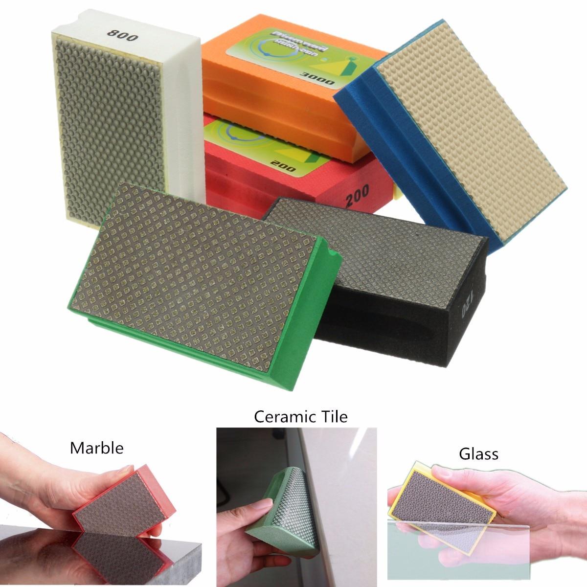 Diamond Polishing Hand Pad Block For Granite Marble Stone Grinding 60-3000 Grit Polish Hand Pads For Polish Tools bengu 60 120 200 400 diamond hand polishing pad sanding grinding for glass stone marble 95x55mm