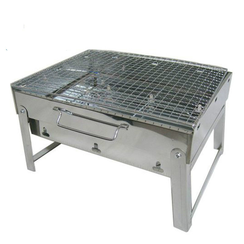Outdoor Barbecue Furnace Portable Carbon Camping Charcoal Grill Bbq Stainless Steel Indoor Oven Rotisserie Barbeque Folding