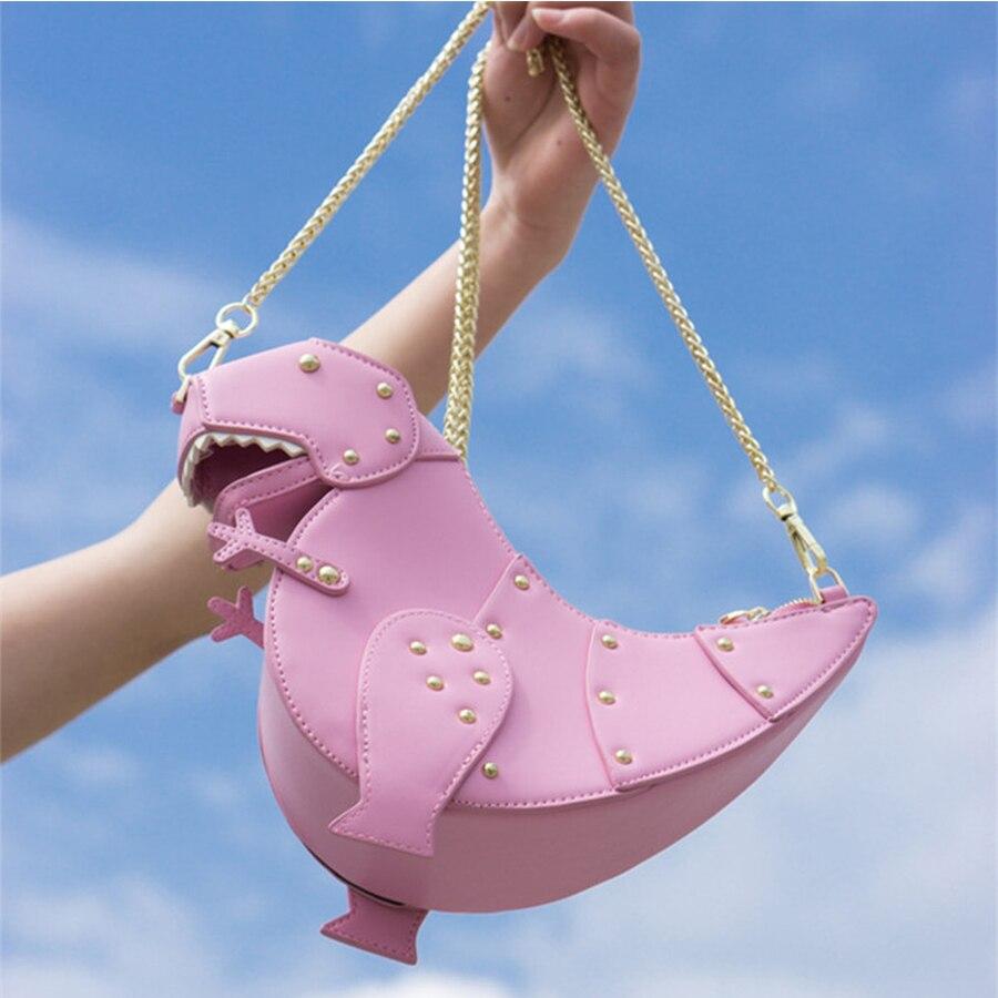 sweet-ins-style-pink-soft-leather-women-dinosaur-shoulder-messenger-bag-handmade-rivet-chain-girl-small-bag-quality-travel-bag