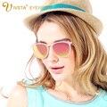 IVSTA Ronda Rosa gafas de Sol de Las Mujeres Rosa Cateye gafas de Sol Lentes de Color Rosa Espejo Chica Retro Vintage Polarizadas Gafas TR90 2004