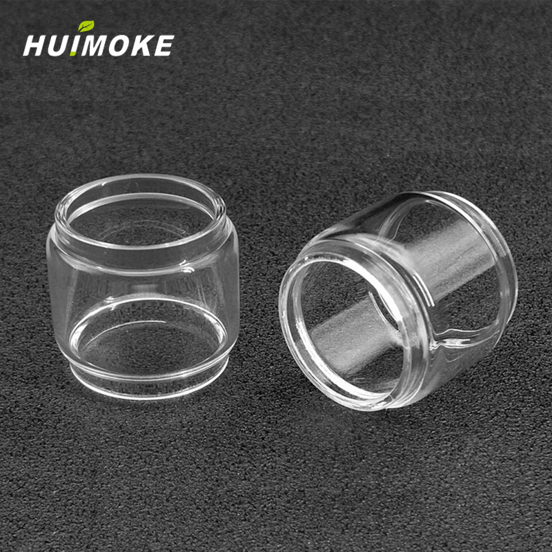 E-cigarette Merlin Mini pyrex Pure Glass Tube Replacement For Augvape RTA 24mm including Straight or Fat Style
