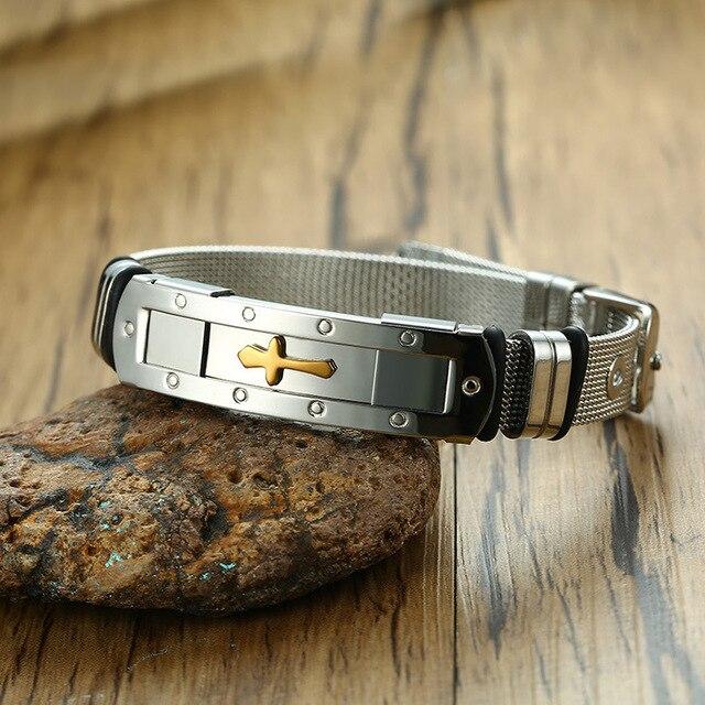 Фото модный мужской браслет из нержавеющей стали ювелирные изделия