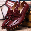 New Oxford Обувь для Мужчин Кожа 2017 скольжения на Подставных лиц платье Обувь Мода Острым Носом Мужчины Обувь Кожа Мужчины Квартиры размер 38-48