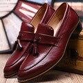 New Oxford Zapatos para Hombres de Cuero 2017 de deslizamiento en la Frente de Los Hombres Zapatos de vestir de Moda Señaló Dedo Del Pie de Los Hombres Zapatos de Cuero Hombre Pisos tamaño 38-48
