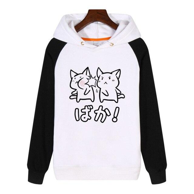 Kawaii Neko Baka Anime Hoodies 패션 남성 여성 스웨터 겨울 Streetwear 힙합 Hoody Tracksuit Sportswear GA1080
