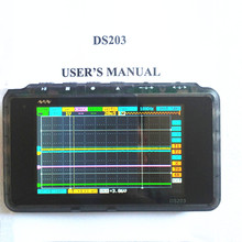 Mini Nano ARM DSO203 Osciloscopio Digital USB V2 Quad DS203 Osciloscopio 8 MHz 4CH Osciloscop Portátil Con Carcasa De Plástico