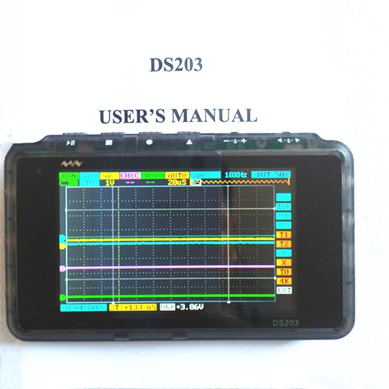 Mini DSO203 Digital Oscilloscope USB ARM Nano V2 Quad Portable Osciloscopio 8MHz 4CH Osc ...