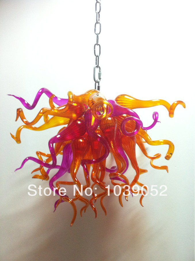 New Arrival Hand Blown Glass Amber Chandelier With LED Bulbs in Chandeliers from Lights Lighting