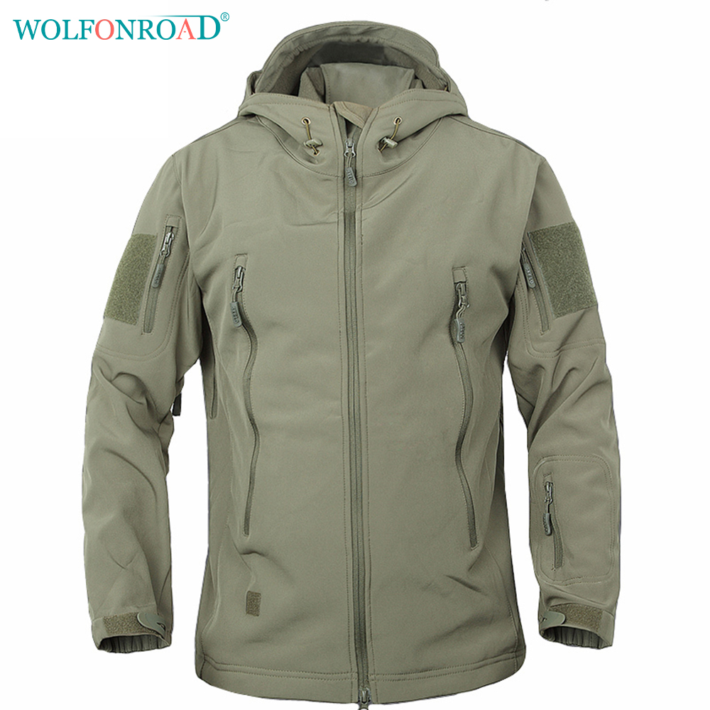 WOLFONROAD Men Military Tactical Hunting Jacket Waterproof Softshell Jacket Men Sport Windbreaker Outdoor Camping Hiking Jacket цена и фото