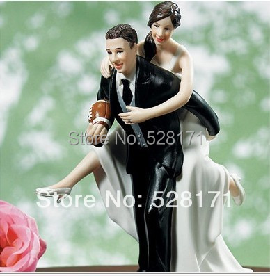 Free shipping Showered with Love Couple Figurine Funny wedding cake toppersFree shipping Showered with Love Couple Figurine Funny wedding cake toppers