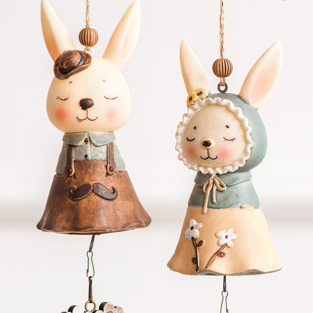 Cartoon Miss Rabbit Wind Bell Cute Home Decoration Creative Birthday Gift For Friend Japan Style Zakka
