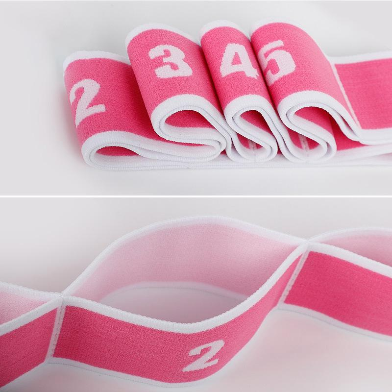 Yoga Pull Strap Belt Polyester Latex Elastic Latin Dance Stretching Band Loop Yoga Pilates GYM Fitness Exercise Resistance Bands 1