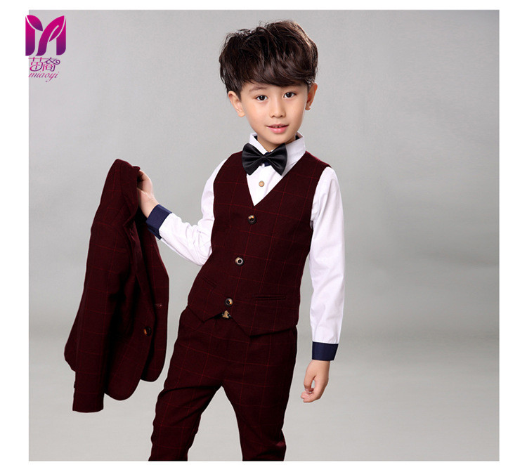 c6d820ad4 5pcs High quality 2017 new fashion baby boys kids boy suit for weddings  prom formal Silvery gray dress wedding boy suits-in Clothing Sets from  Mother & Kids ...