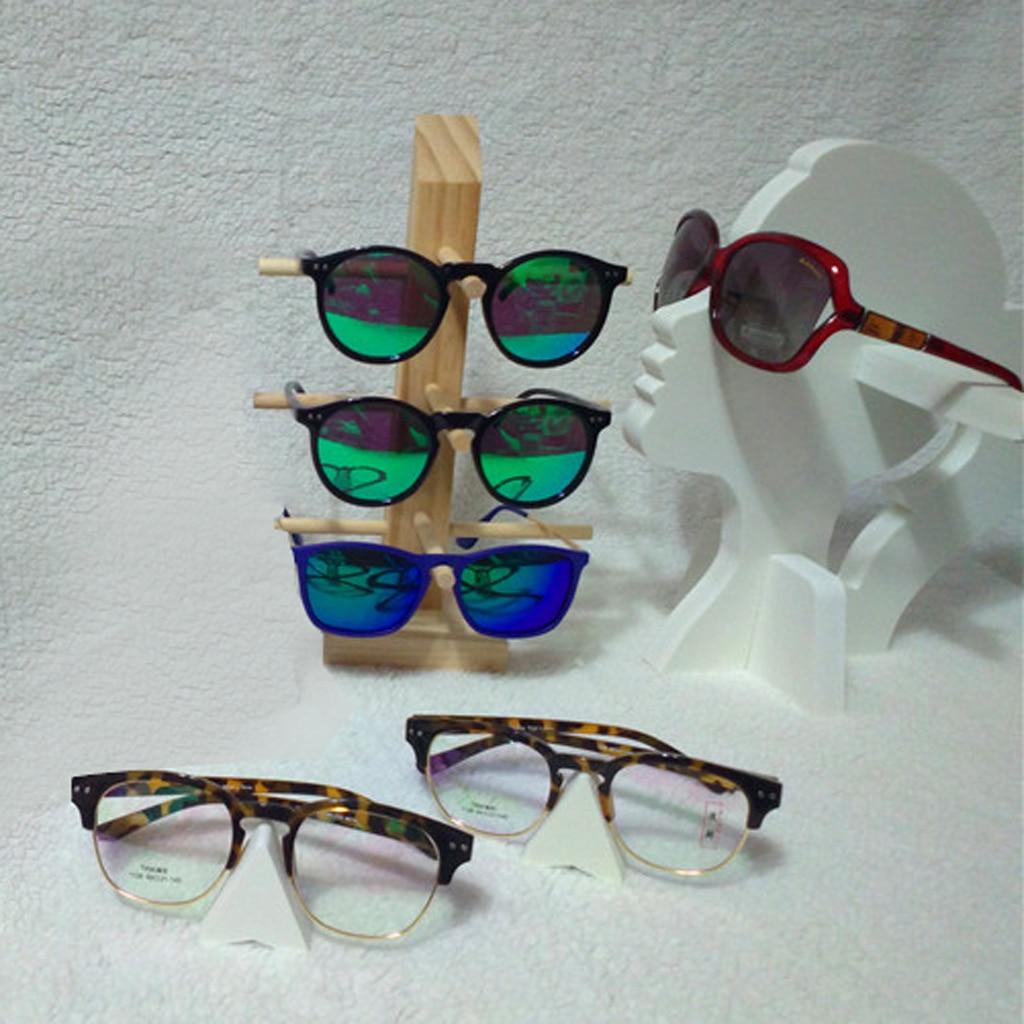 Vintage Wooden Sunglasses Frame Rack Display Eyeglass Counter Stand Holder Organizer 3/4/5/6-Layer