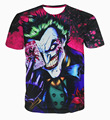 2016 New Fashion Men And Women T-Shirt Printing Dark Knight Joker Poker 3D Mens T-Shirt Short Sleeve Hip Hop Tops