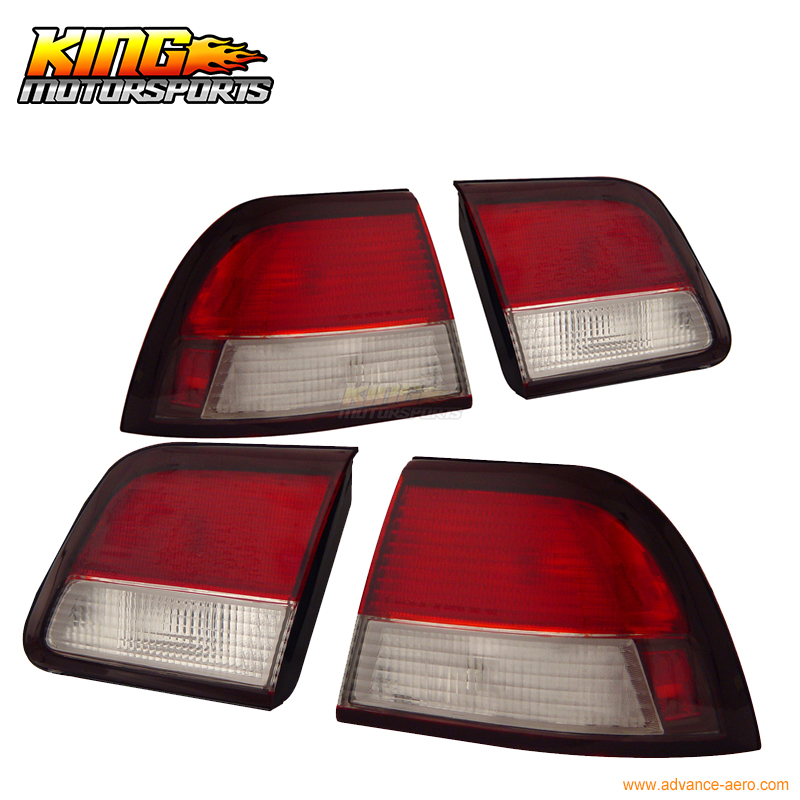 For 97-98 99 Nissan Maxima 4 PCS Tail Lights Red Clear USA Domestic Free Shipping for 03 04 05 nissan 350z led tail lights lamps black usa domestic free shipping