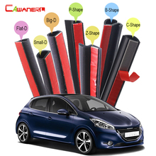 Cawanerl Car Accessories Rubber Sealing Strip Kit Seal Edge Trim Weatherstrip Noise Control For Peugeot 208 307 308 405 406