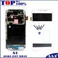 Для Samsung Galaxy S4 i9505 i337 M919 Мобильный Телефон LCD Сенсорный Экран Digitizer с Рамкой Рамкой Темно-Синий/Белый/Черный Замена