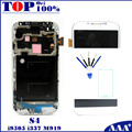 Para samsung galaxy s4 i9505 i337 m919 telefone móvel lcd touch screen digitador com frame moldura azul escuro/branco/preto substituição