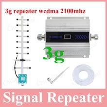 Alta calidad LCD de pantalla del teléfono móvil 3G repetidor del teléfono móvil 3G w-cdma 2100 mhz señal de refuerzo con omni-dirección de la antena de interior