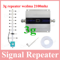 High quality lcd display cellphone new repeater 3g booster wcdma 2100mhz mobile phone 3g signal amplifier yagi 3g antenna 2017