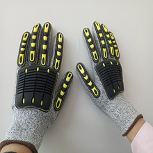Safety Gloves Anti-cut Non-slip Antistatic Work Gloves Cut Resistant Mechanics Impact Resistant TPR Working Glove Outdoor Sports nmsafety anti vibration oil safety glove shock absorbing mechanics impact resistant work glove