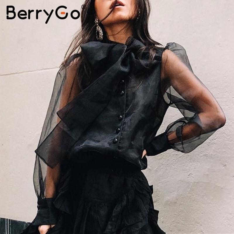 Fashion Star Womens Peplum Polo Neck See Through Mesh Top